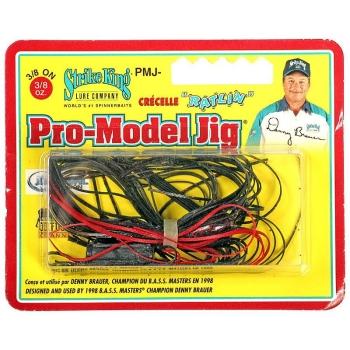 Бактейл STRIKE KING Pro-Model Jig 10,5 г (3/8 oz) цв. black red