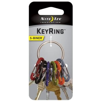 Брелок для ключей NITE IZE S-Biner Ahhh цв. черный