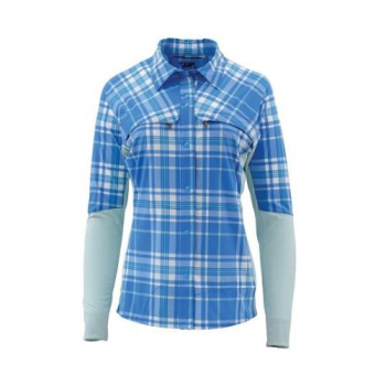 Рубашка SIMMS Women's Pro Reina Shirt цвет Harbour Blue Plaid
