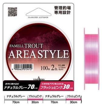 Леска YAMATOYO Famell Trout Area Style 100 м цв. Розовый 0,157 мм в интернет магазине Rybaki.ru