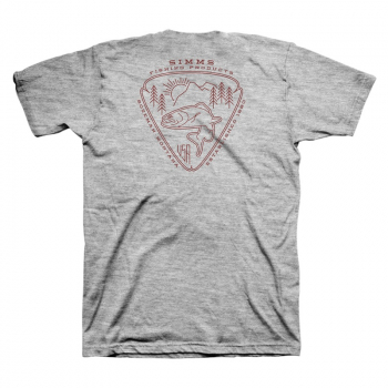 Футболка SIMMS Trout Passion T-Shirt цвет Grey Heather