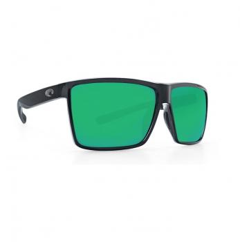 Очки поляризационные COSTA DEL MAR Rincon 580P р. XL цв. Shiny Black цв. ст. Green Mirror