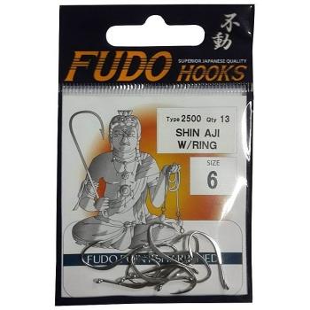 Крючок одинарный FUDO 2502 Shin-Aji с кольцом № 6 GD (11 шт.)
