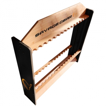 Стойка для удилищ SAVAGE GEAR Wooden 24 Rod Stand в интернет магазине Rybaki.ru