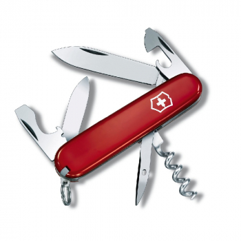 Нож VICTORINOX Recruit 84мм 10 функций цв. красный в интернет магазине Rybaki.ru