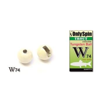 Вольфрамовая головка ONLY SPIN Trout Tungsten Ball 2 мм цв. Белый (5 шт.) в интернет магазине Rybaki.ru