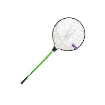 Подсачек KAHARA Rubber Landing Net для форели обруч D-45 см, гл. 30 см, рукоять 70 см зеленая в интернет магазине Rybaki.ru