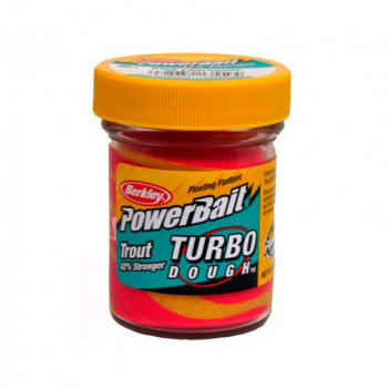 Паста форелевая BERKLEY PowerBait Turbo Dough цв. розовый лимонад в интернет магазине Rybaki.ru