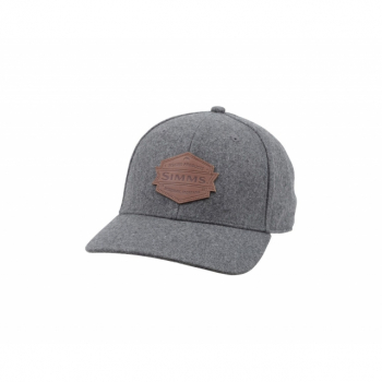 Кепка SIMMS Wool Leather Patch Cap цв. Heather Grey
