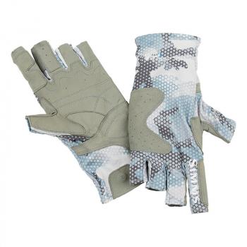Перчатки SIMMS Solarflex Guide Glove цвет Hex Flo Camo Grey Blue