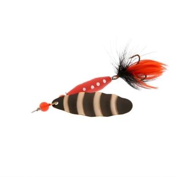 Блесна вращающаяся NORSTREAM Marble Fly № 3 12 г цв. black black / orange fly