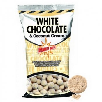 Бойл тонущий DYNAMITE BAITS 15 мм White Chocolate & Coconut Cream 1 кг в интернет магазине Rybaki.ru