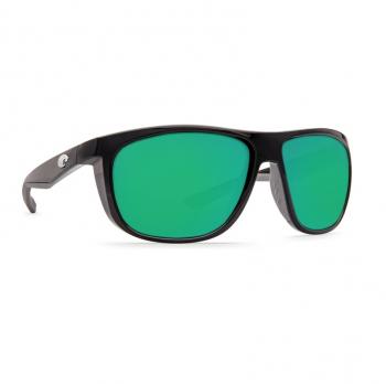 Очки поляризационные COSTA DEL MAR Kiwa 580P р. XL цв. Shiny Black цв. ст. Green Mirror