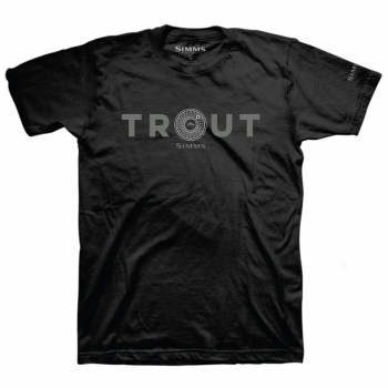 Футболка SIMMS Reel Trout T-Shirt цвет Black