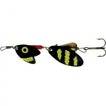 Блесна вращающаяся MEPPS Tandem Trout № 2 цв. Black Yellow (блистер)