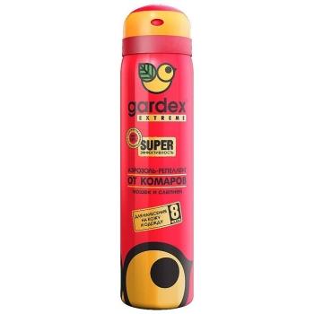 Аэрозоль GARDEX Extreme SUPER от комаров и клещей 80 мл в интернет магазине Rybaki.ru
