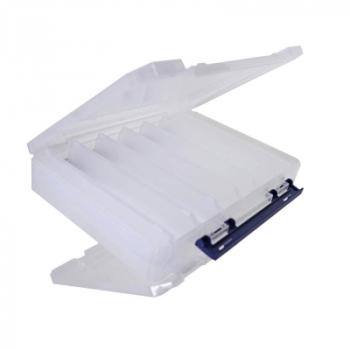 Коробка двухсторонняя MEIHO Reversible 165N цв. прозрачный / синий в интернет магазине Rybaki.ru