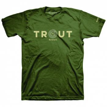 Футболка SIMMS Reel Trout T-Shirt цвет Military