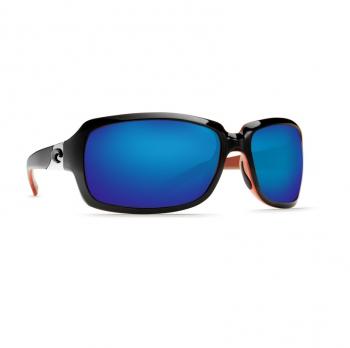 Очки поляризационные COSTA DEL MAR Isabela 580P р. L цв. Black/Coral цв. ст. Blue Mirror