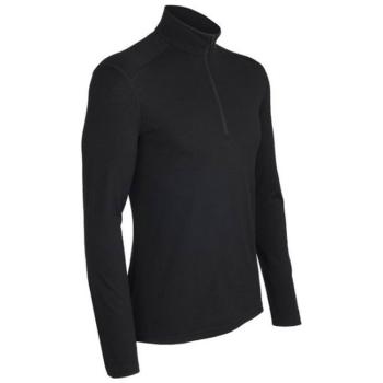 Футболка ICEBREAKER Oasis Ls Half Zip цвет Black в интернет магазине Rybaki.ru