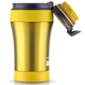 Термокружка THERMOS JND LMG (тепло 6 ч, холод 12 ч) цвет жёлтый с чёрной крышкой, 0,4 л в интернет магазине Rybaki.ru
