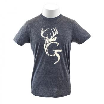 Футболка G5 Antler Logo T-Shirt цвет Charcoal в интернет магазине Rybaki.ru