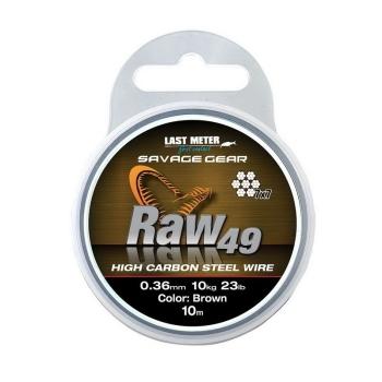 Поводковый материал SAVAGE GEAR Raw49 10 м 0,54 мм 23 кг 50 lb Uncoated Brown в интернет магазине Rybaki.ru