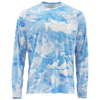 Термофутболка SIMMS SolarFlex CNPrint цвет Cloud Camo Blue