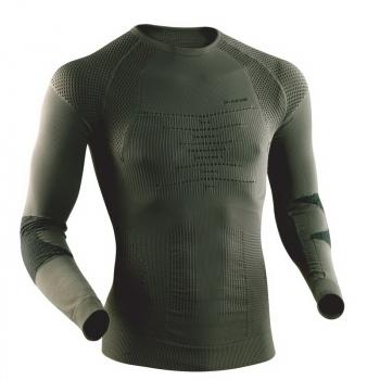 Термофутболка X-BIONIC Combat Man Uw Shirt Long Sl цвет Серо-зеленый / Антрацит в интернет магазине Rybaki.ru
