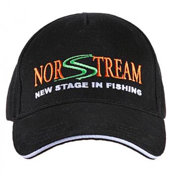 Бейсболка NORSTREAM с логотипом цв. черный