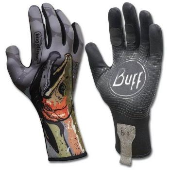 Перчатки рыболовные BUFF Mxs Gloves Bs цвет Steelhead