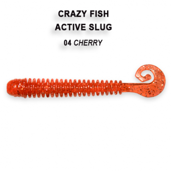 "Слаг CRAZY FISH Active Slug 2,8"" (8 шт.) зап. анис, код цв. 4"
