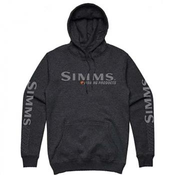 Толстовка SIMMS Bass Logo Hoody цвет Charcoal Heather