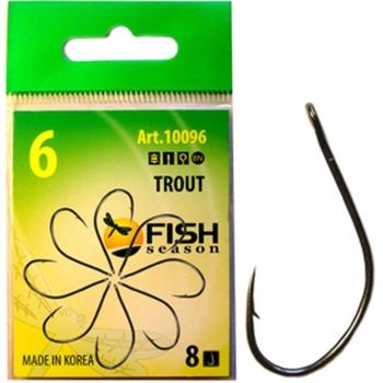 Крючок одинарный FISH SEASON Trout с большим ухом № 5 (8 шт.) в интернет магазине Rybaki.ru