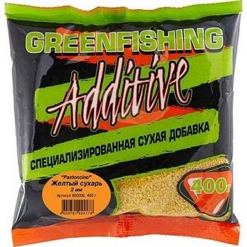 Добавка GREEN FISHING Pastoncino Сухарь Желтый 0,4 кг в интернет магазине Rybaki.ru