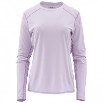 Футболка SIMMS Women's Solarflex LS Crewneck - Print цвет Pale Lavender