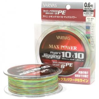 Плетенка VARIVAS Avani Jigging Max Power 10 x 10 PE x8 200 м цв. Многоцветный # 0,6 в интернет магазине Rybaki.ru