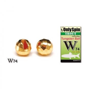 Вольфрамовая головка ONLY SPIN Trout Tungsten Ball 3 мм цв. Золотой (5 шт.)