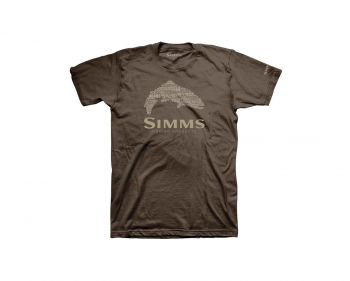 Футболка SIMMS Stacked Typo Logo Trout цвет brown