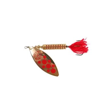 Блесна вращающаяся NORSTREAM Lonking Fly № 2 7 г цв. gold red dots / red tail