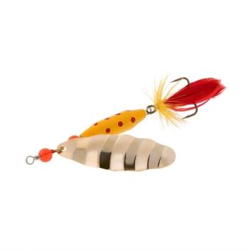 Блесна вращающаяся NORSTREAM Marble Fly № 2 7 г цв. gold yellow / red fly