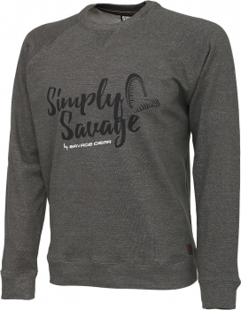 Толстовка SAVAGE GEAR Simply Savage Sweater цвет серый меланж