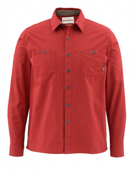Рубашка SIMMS Black's Ford Flannel LS Shirt - Solid цвет Ruby