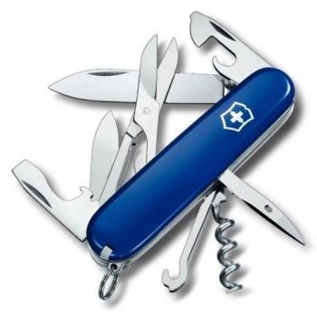 Нож VICTORINOX Huntsman синий 14 функций 91 мм карт.коробка