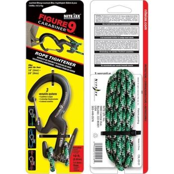 """Крепление для веревки NITE IZE """"9"""" Carabiner 67,5 кг + веревка (3 м)"""