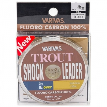 Леска VARIVAS Trout Shock Leader Fluoro 30 м 0,5 в интернет магазине Rybaki.ru