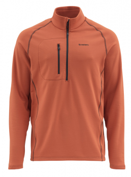 Пуловер SIMMS Fleece Midlayer Top цвет orange