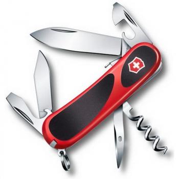 Нож VICTORINOX EvoGrip S101  р. 85 мм 12 функций цв. красный / черный, карт.коробка в интернет магазине Rybaki.ru