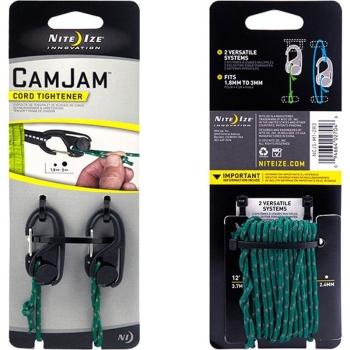 Крепление для веревки NITE IZE CamJam р. S (2 шт.) + веревка (2,44 м)