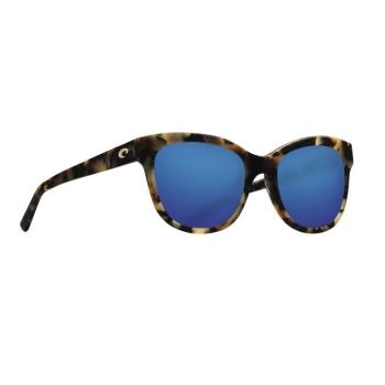 Очки поляризационные COSTA DEL MAR Bimini 580G р. L цв. Shiny Vintage Tortoise цв. ст. Blue Mirror